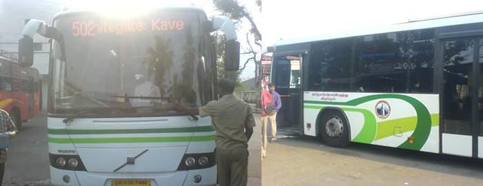Vellore to Chennai Volvo bus